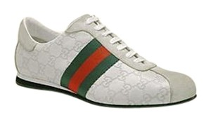 Gucci Classic Red/green White With Webbing Athletic