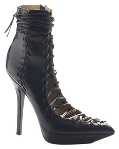 Versace Leather Bootie Boot Black Boots