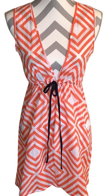 Preload https://item3.tradesy.com/images/francesca-s-orange-and-white-new-with-tags-swimsuit-cover-upsarong-size-4-s-19808597-0-1.jpg?width=400&height=650