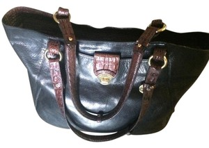 Brahmin Tote in Black And Brown Large
