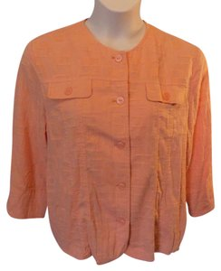 Alfred Dunner Button Front Solid Top Orange
