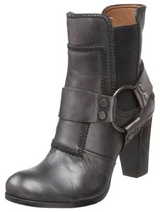 Rosegold Shoes Leather Wendie Leather Moto Black Boots
