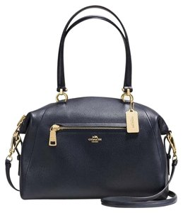 Coach 36560 Light Gold Prairie Satchel in NAVY
