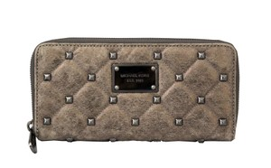 Michael Kors MICHAEL KORS Nickel Quilted Stud Leather Wallet