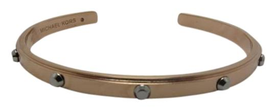 Preload https://item2.tradesy.com/images/michael-kors-rose-gold-tone-silver-tone-new-and-studded-cuff-bracelet-19808656-0-1.jpg?width=440&height=440