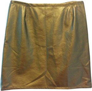 Tinley Road Skirt Gold Bronze Metallic