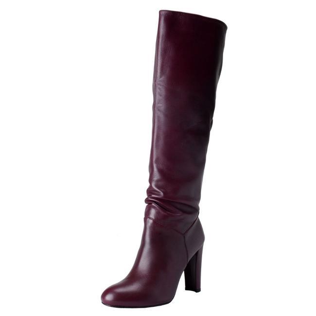 Item - Purple Women's Leather High Boots/Booties Size US 5 Regular (M, B)