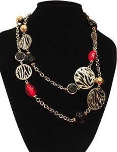 Macy's Macy's Black, Red, Gold and Silver Fashion Contemporary Necklace