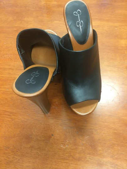 Jessica Simpson Black with Brown Soles Mules/Slides Size ...