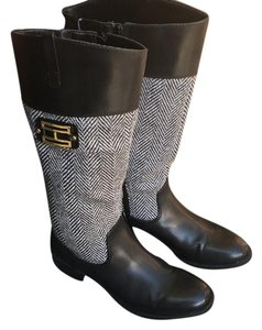 Tommy Hilfiger Black and gray Boots