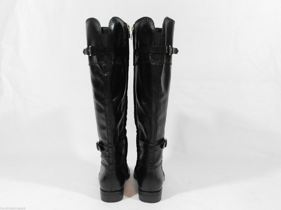 e705d970a497 Enzo Angiolini Black Eero Wide Calf Riding Boots Booties Size US 6.5 ...