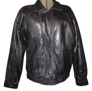 Dior Men's Leather Vintage Bomber black Jacket