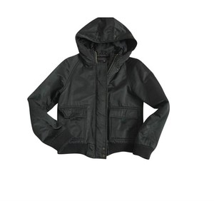 Theory Hood Spring Black Jacket
