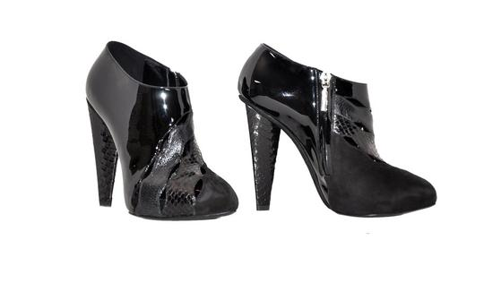 Dolce&Gabbana Python Patent Leather Black Boots