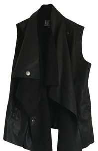 KUT from the Kloth Faux Motercycle Drape Vest
