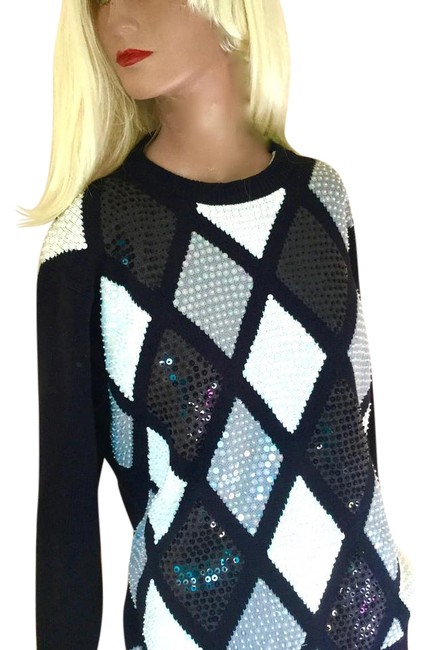 Preload https://item1.tradesy.com/images/alfred-dunner-black-white-gray-brown-beads-sequins-festive-sweaterpullover-size-16-xl-plus-0x-19808945-0-1.jpg?width=400&height=650