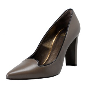 Stuart Weitzman Dark Brownish Olive Green Pumps
