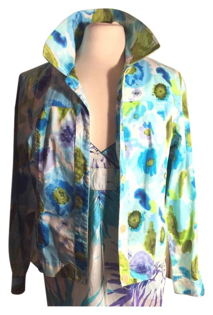 Preload https://item1.tradesy.com/images/coldwater-creek-bluegreenaqua-large-coldwater-bluegreen-printed-cotton-spring-jacket-size-12-l-19808985-0-1.jpg?width=400&height=650