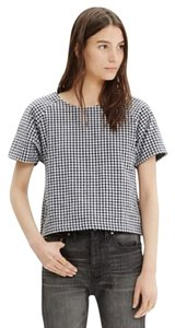 Madewell Top Black, White, Blue