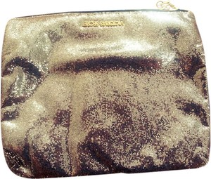 Victoria's Secret Vs Sequin Makeup Evening Handbag Gold Clutch