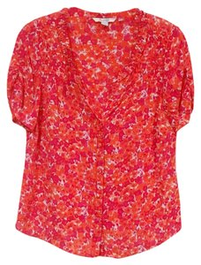 Boden Top Pink, Red, Orange, White