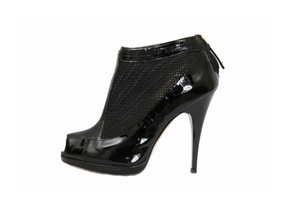 Roberto Cavalli Patent Leather Ankle Boot Black Boots