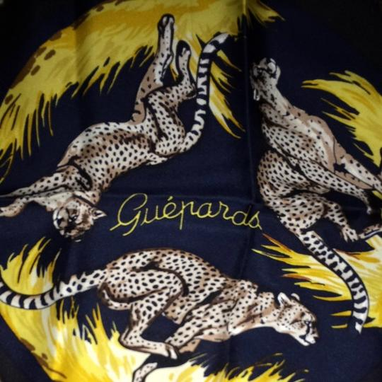"Hermès ""guepards"" Leopards Scarf"