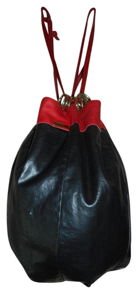 42ceb9a0ff Bottega Veneta Reversible Black Red Leather Hobo Bag - Tradesy