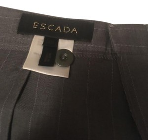 Escada Relaxed Pants Grey and light blue pin stripped