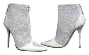 Roberto Cavalli Ankle Boot Lace White Boots