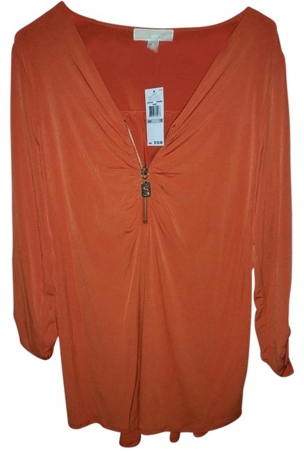Preload https://item5.tradesy.com/images/michael-kors-orange-blouse-size-20-plus-1x-1980934-0-0.jpg?width=400&height=650