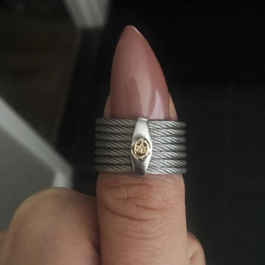 Charriol ALOR Diamond Wave White Gold Cigar Band Ring