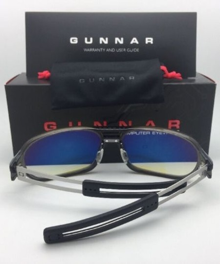 GUNNAR New GUNNAR Computer Glasses TROOPER Smoke Grey Frame w/ Amber Yellow