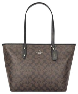 Coach Satchel Shoulder F34103 Tote in Brown Black