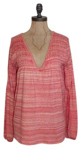 Free People Marled Knit Long Sleeve We The Top coral
