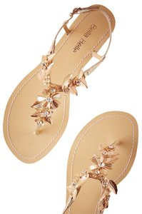 BHLDN Wedding Bohemian Brass Gold Sandals