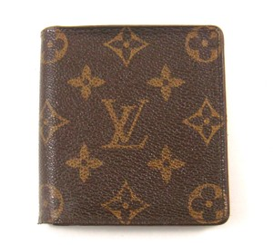 Louis Vuitton Monogram Canvas Leather 3x Credit Bifold ID Wallet w/ Tags