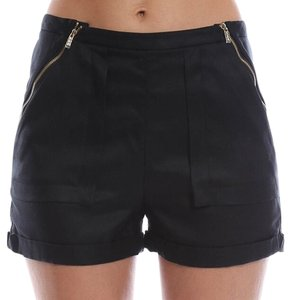 Shipley & Halmos Zippers Cuffed Dress Shorts Black