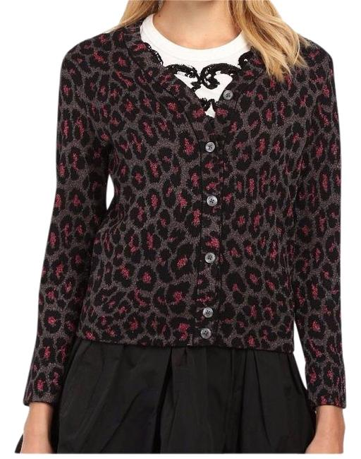Marc Jacobs By Leopard Lurex Jacquard Cardigan Fuchsia Small Multicolor Sweater Marc Jacobs By Leopard Lurex Jacquard Cardigan Fuchsia Small Multicolor Sweater Image 1