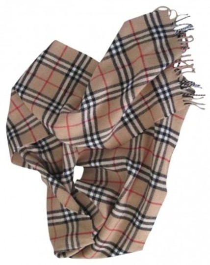 Burberry Burberry Dark Camel Lambswool Scarf