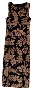 Black/White Floral Design Maxi Dress by Ralph Lauren