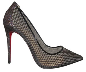 Christian Louboutin Pigalle Follies Red Sole Black Pumps