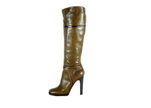 Roberto Cavalli Leather Forest Boots