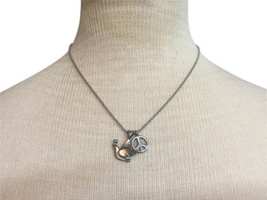 Free People Peace Dove Dog Tag Necklace