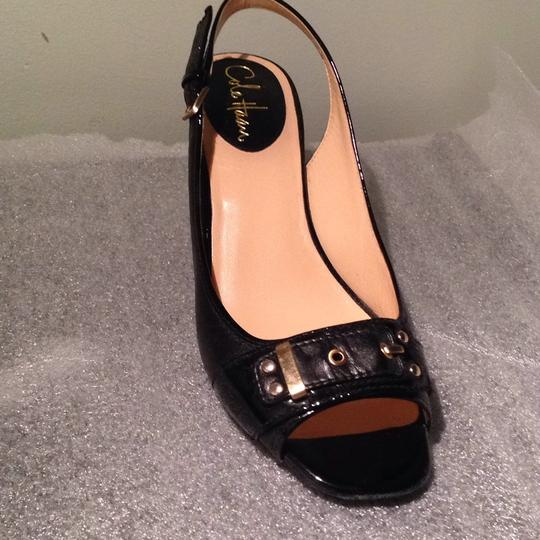 Cole Haan Black/Black Patent Leather Pumps