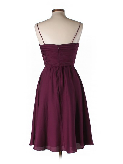 BHLDN Berry Silk Spandex; Acetate Lining. Couplet Vintage Bridesmaid/Mob Dress Size 6 (S)