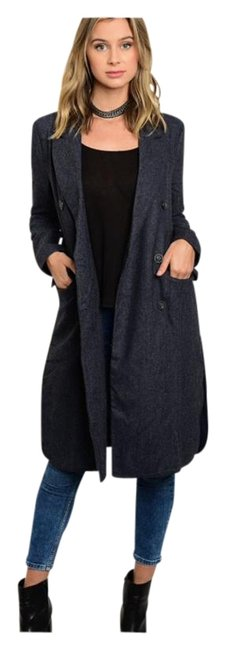 Preload https://img-static.tradesy.com/item/19809719/others-follow-navy-denim-new-long-button-detail-trench-coat-size-10-m-0-1-650-650.jpg
