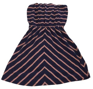 Gap short dress Navy blue/ pink on Tradesy