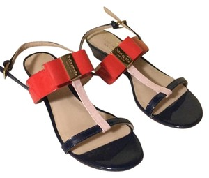 Kate Spade Orange, navy, Blush Sandals