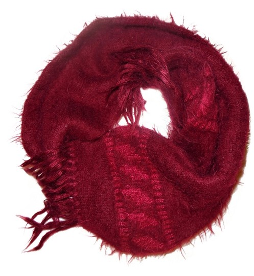 Preload https://item4.tradesy.com/images/dark-maroon-burgundy-red-fuzzy-cozy-knit-scarfwrap-1980973-0-0.jpg?width=440&height=440